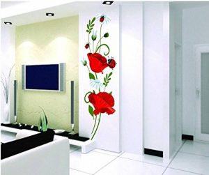 Autocollant mural coquelicots Décalcomanies Décoration de maison Fleurs modernes élégantes Décoration de chambre à coucher Cuisine de la marque Deco-online image 0 produit