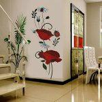 Autocollant mural coquelicots Décalcomanies Décoration de maison Fleurs modernes élégantes Décoration de chambre à coucher Cuisine de la marque Deco-online image 2 produit