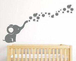 Autocollant mural décoratif avec éléphant et bulles - Pour chambre d'enfant, de bébé de la marque customwallsdesign image 0 produit