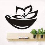 Autocollant mural de signe de spa asiatique et symbole Stickers muraux Lotus Wallpaper 76 * 58cm de la marque XINTIAO image 1 produit