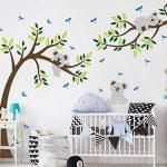 """Autocollant mural Koala sur une branche d'arbre, multicolore, 80""""W x 112""""H de la marque LUCKKYY image 2 produit"""