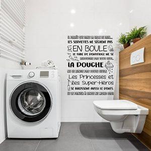 autocollant mural salle de bain TOP 9 image 0 produit