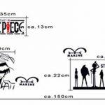 Autocollant mural Tatouage One Piece Ruffy Lufy de la marque papapanda image 3 produit