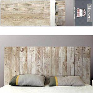 Autocollant mural tête de lit planches de bois de la marque Nodshop image 0 produit