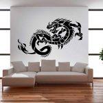 Autocollant - Stickers muraux sticker mural Dragon 120 x 75cm : #32 noire de la marque PrimeStick image 2 produit