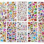 Autocollants 1500+, Stickers 3D en Relief Enfant, Fille Garçon de Grand Lot de 20 Planches Toutes Différentes Scrapbooking, journaux de Balle, Autocollants Adulte, y Compris Les Animaux de la marque Renook image 1 produit
