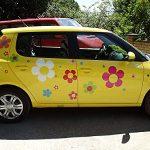 Autocollants de Fleur Hippie, Hippie Autocollants de Voiture 031 - colorée Mixte (42) de la marque aufgeklebt-de image 1 produit