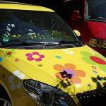 Autocollants de Fleur Hippie, Hippie Autocollants de Voiture 031 - colorée Mixte (42) de la marque aufgeklebt-de image 3 produit