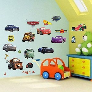 Autocollants muraux Cars 3D Cartoon pour les chambres garçons et filles sticker mural Taille: Grand 76 cm X 72 cm de la marque Interpaw image 0 produit