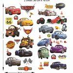 Autocollants muraux Cars 3D Cartoon pour les chambres garçons et filles sticker mural Taille: Grand 76 cm X 72 cm de la marque Interpaw image 1 produit