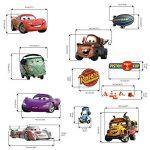Autocollants muraux Cars 3D Cartoon pour les chambres garçons et filles sticker mural Taille: Grand 76 cm X 72 cm de la marque Interpaw image 2 produit