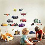 Autocollants muraux Cars 3D Cartoon pour les chambres garçons et filles sticker mural Taille: Grand 76 cm X 72 cm de la marque Interpaw image 3 produit