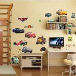 Autocollants muraux Cars 3D Cartoon pour les chambres garçons et filles sticker mural Taille: Grand 76 cm X 72 cm de la marque Interpaw image 4 produit