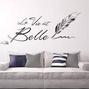 Autocollants muraux lettre phrase française stickers muraux salon décor à la maison 50x70cm de la marque EASTVAPS image 0 produit
