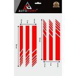 Autodomy Autocollants Rétroviseur de Voiture avec Rayures Design Stripes Pack de 6 unités de largeurs différentes pour Voiture (Rouge) de la marque Autodomy image 3 produit