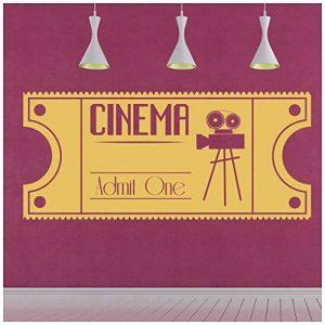 azutura Billet de cinéma Sticker Muraux Film Vintage Autocollant Mural Film Décoration de Maison Disponible en 5 Dimensions et 25 Couleurs Moyen Noir de la marque azutura image 0 produit