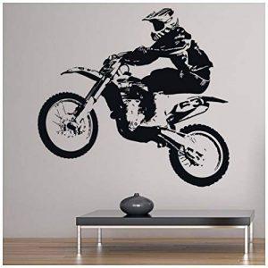 azutura Dirt Bike Jump Sticker Muraux Sports moto Autocollant Mural Garçons Chambre à coucher Décor disponible en 5 dimensions et 25 couleurs Moyen Noir de la marque azutura image 0 produit