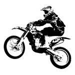azutura Dirt Bike Jump Sticker Muraux Sports moto Autocollant Mural Garçons Chambre à coucher Décor disponible en 5 dimensions et 25 couleurs X-Grand Noir de la marque azutura image 1 produit