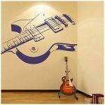 azutura Guitare électrique Sticker Muraux Musique rock Autocollant Mural École pour enfants Décor disponible en 5 dimensions et 25 couleurs Moyen Noir de la marque azutura image 2 produit