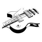 azutura Guitare électrique Sticker Muraux Musique rock Autocollant Mural École pour enfants Décor disponible en 5 dimensions et 25 couleurs Moyen Noir de la marque azutura image 1 produit