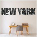 azutura La Ville de New York Sticker Muraux Horizon Texte Autocollant Mural Chambre à Coucher Décoration de Maison Disponible en 8 Tailles Petit Numérique de la marque azutura image 2 produit