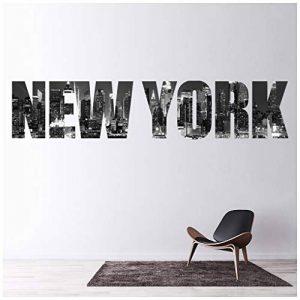 azutura La Ville de New York Sticker Muraux Horizon Texte Autocollant Mural Chambre à Coucher Décoration de Maison Disponible en 8 Tailles Petit Numérique de la marque azutura image 0 produit