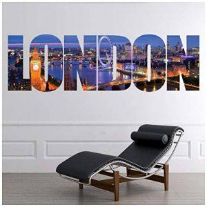 azutura Londres Texte Sticker Muraux City Skyline Autocollant Mural Salon Chambre Décoration de Maison Disponible en 8 Tailles Petit Numérique de la marque azutura image 0 produit