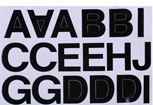 B2see Papeterie Stickers Lettres Autocollantes Lettres Adesif ABC Alphabet Noir a Coller Auto-collantes pour Bureau Enfant Gateau Porte Decoration 3 Feuilles 190mm x 270mm per Un Feuille de la marque B2see image 0 produit