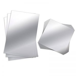 BBTO 9 Pièces Feuilles Miroir Muraux Miroir Plastique Miroir Autocollant Miroir de Carrelage Flexible Non Verre Stickers Muraux, 6 Pouces 6 Pouces 6 Pouces 9 Pouces de la marque BBTO image 0 produit