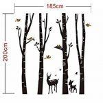 BDECOLL Autocollant en bois de Birch Tree Autocollant de vinyle de forêt et d'oiseaux de neige et de cerf (blanc) de la marque BDECOLL image 4 produit