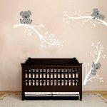 Bdecoll Autocollant mural Koala arbre---Décor moderne de nursery-pour chambre d'enfants/bébés (White White) de la marque BDECOLL image 3 produit