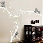 Bdecoll Autocollant mural Koala arbre---Décor moderne de nursery-pour chambre d'enfants/bébés (White White) de la marque BDECOLL image 4 produit