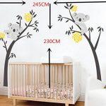 BDECOLL bebe koala stickers-Koala endormi et branche d'arbre stickers famille voiture-decoration maison murale-deco salon moderne-Arbre Stickers Muraux pour Chambre de la marque BDECOLL image 1 produit