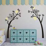 BDECOLL bebe koala stickers-Koala endormi et branche d'arbre stickers famille voiture-decoration maison murale-deco salon moderne-Arbre Stickers Muraux pour Chambre de la marque BDECOLL image 4 produit