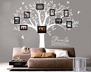 BDECOLL Géant de décorations d'arbre de photos de stickers arbre blanc bebe ( le cadre photo non inclus) de la marque BDECOLL image 0 produit