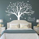 BDECOLL Géant de décorations d'arbre de photos de stickers arbre blanc bebe ( le cadre photo non inclus) de la marque BDECOLL image 1 produit
