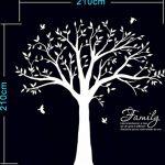 BDECOLL Géant de décorations d'arbre de photos de stickers arbre blanc bebe ( le cadre photo non inclus) de la marque BDECOLL image 3 produit