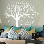 BDECOLL Géant de décorations d'arbre de photos de stickers arbre blanc bebe ( le cadre photo non inclus) de la marque BDECOLL image 4 produit