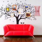 BDECOLL géant photo de famille Arbre mur Home Decor/Stickers mural grand Arbre/cerisier en fleur Blanc Sticker Mural pour chambre d'enfant/salon de la marque BDECOLL image 4 produit