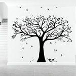 BDECOLL géant photo de famille Arbre mur Home Decor/Stickers mural grand Arbre/cerisier en fleur Blanc Sticker Mural pour chambre d'enfant/salon de la marque BDECOLL image 1 produit