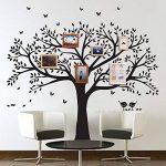 BDECOLL géant photo de famille Arbre mur Home Decor/Stickers mural grand Arbre/cerisier en fleur Blanc Sticker Mural pour chambre d'enfant/salon de la marque BDECOLL image 2 produit