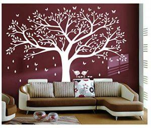 BDECOLL Grand sticker mural pour salon chambre Stickers muraux de décoration,Chambre Autocollant Mural Oiseaux Accueil Decal Mural Art Decor de la marque BDECOLL image 0 produit