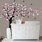 Bdecoll Kent arbre papillon DIY arbres Stickers muraux/ Papier peint amovible Stickers muraux /Chambre filles, chambre de bébé, Creative Art Deco (black) de la marque BDECOLL image 2 produit