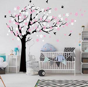 Bdecoll Kent arbre papillon DIY arbres Stickers muraux/ Papier peint amovible Stickers muraux /Chambre filles, chambre de bébé, Creative Art Deco (black) de la marque BDECOLL image 0 produit
