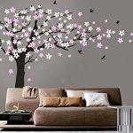 Bdecoll Kent arbre papillon DIY arbres Stickers muraux/ Papier peint amovible Stickers muraux /Chambre filles, chambre de bébé, Creative Art Deco (black) de la marque BDECOLL image 1 produit