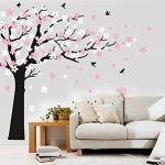 Bdecoll Kent arbre papillon DIY arbres Stickers muraux/ Papier peint amovible Stickers muraux /Chambre filles, chambre de bébé, Creative Art Deco (black) de la marque BDECOLL image 4 produit