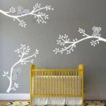 BDECOLL Koala endormi et branche d'arbre amovible en vinyle autocollant murale Art Stickers/Sticker,es branches d'un arbre avec papillon et libellule mur (blanc) de la marque BDECOLL image 1 produit