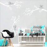 BDECOLL Koala endormi et branche d'arbre amovible en vinyle autocollant murale Art Stickers/Sticker,es branches d'un arbre avec papillon et libellule mur (blanc) de la marque BDECOLL image 3 produit