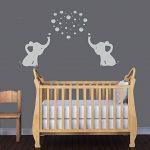 BDECOLL Éléphant Bubbles Sticker mural Nursery Décoration, éléphant Blowing Bubbles, décoration chambre de bébé de la marque YouYou image 2 produit