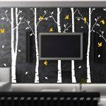 BDECOLL Stickers Arbre /6 Grands bouleaux et Oiseaux pour décoration de Chambre, Blanc/Chambre Bebe de la marque BDECOLL image 2 produit
